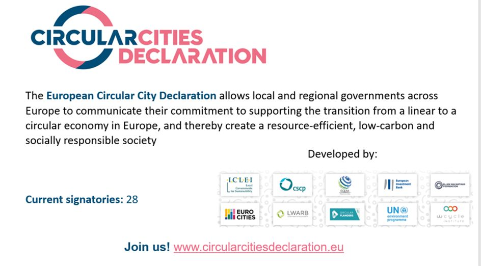 Major Cities sign European Circular Cities Declaration and invite peers to join them